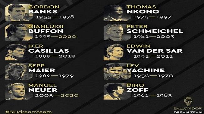 France Football nominates goalkeeper Thomas Nkono for the Dream Team award