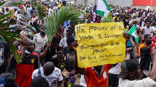 Nigerian general dismisses bloody Lagos protest videos as 'manipulated'
