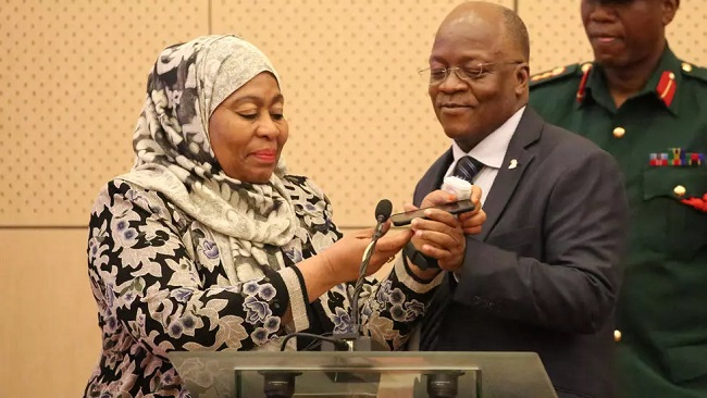 Samia Suluhu Hassan sworn in as Tanzania's first female president