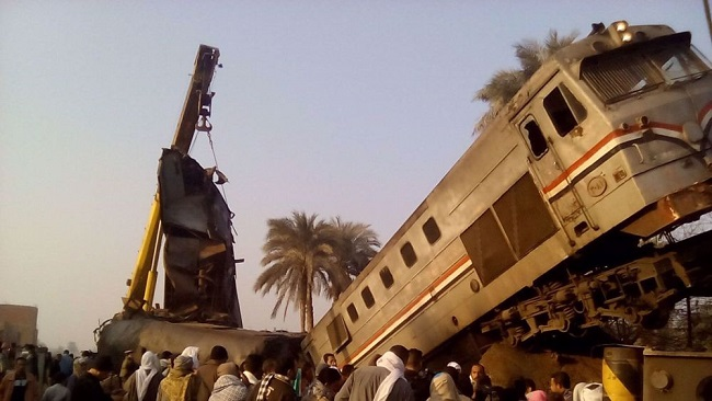 Egypt: 32 killed, 66 injured in train collision