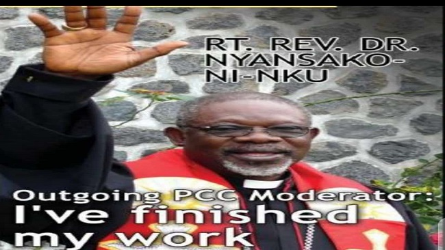 Prayerful condolences on death of Moderator Nyansako Ni Nku