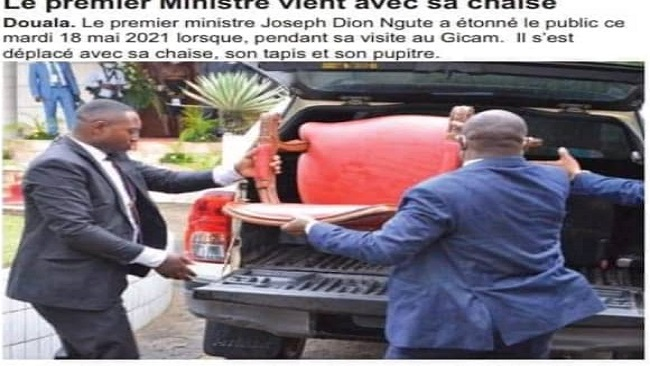 Dion Ngute-Laurent Esso Palaver: PM travels to Douala with his own seat, carpet, food and drinking water