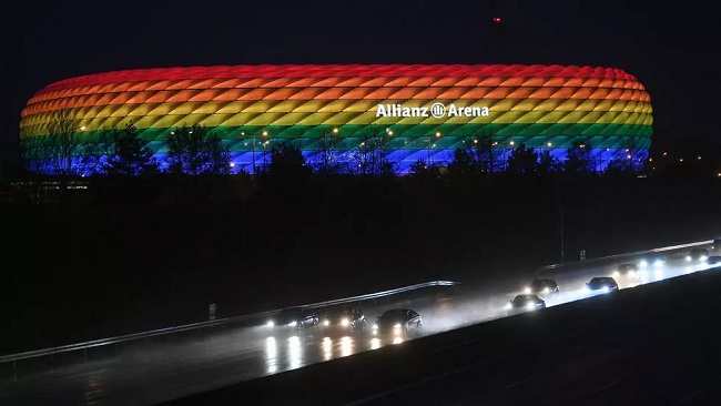 UEFA refuses to light Munich stadium in rainbow colours for Germany-Hungary match