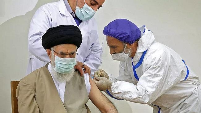 Khamenei receives all-Iranian Covid jab