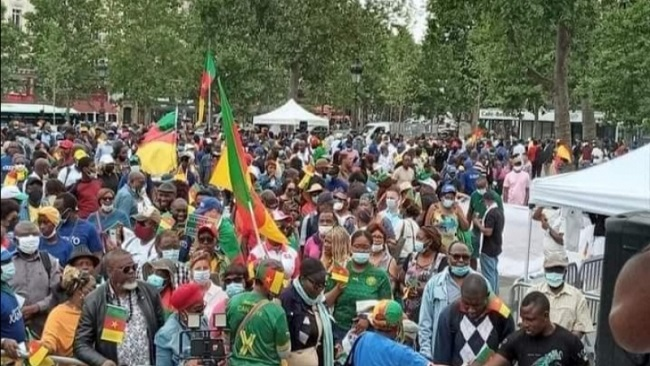 Covid-19-AFCON Funds Scandal: French Cameroonians stage anti Biya demo in Paris