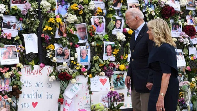 'Consoler-in-chief' Biden in Miami to comfort families of building collapse victims