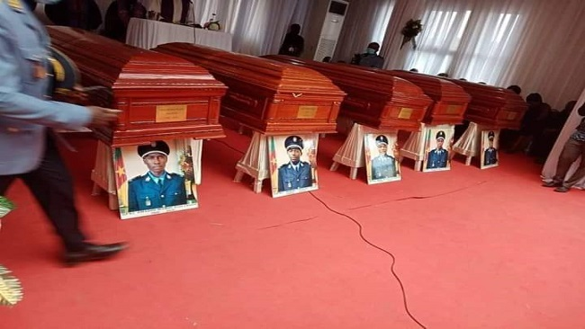 Remains of 5 police officers returned to Yaoundé three weeks after they died in S. Cameroons