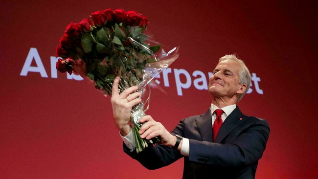 Norway's left-wing opposition wins general election in a landslide