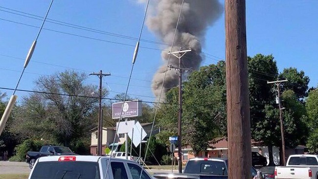 US: Military aircraft crashes into Texas residential area